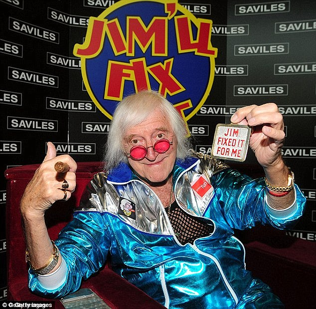 Blackburn's unequivocal denials about the meeting were also dismissed by Dame Janet Smith, who led the probe into Jimmy Savile's (pictured) reign of terror at the BBC, leading to the termination of his £200,000 per annum contract