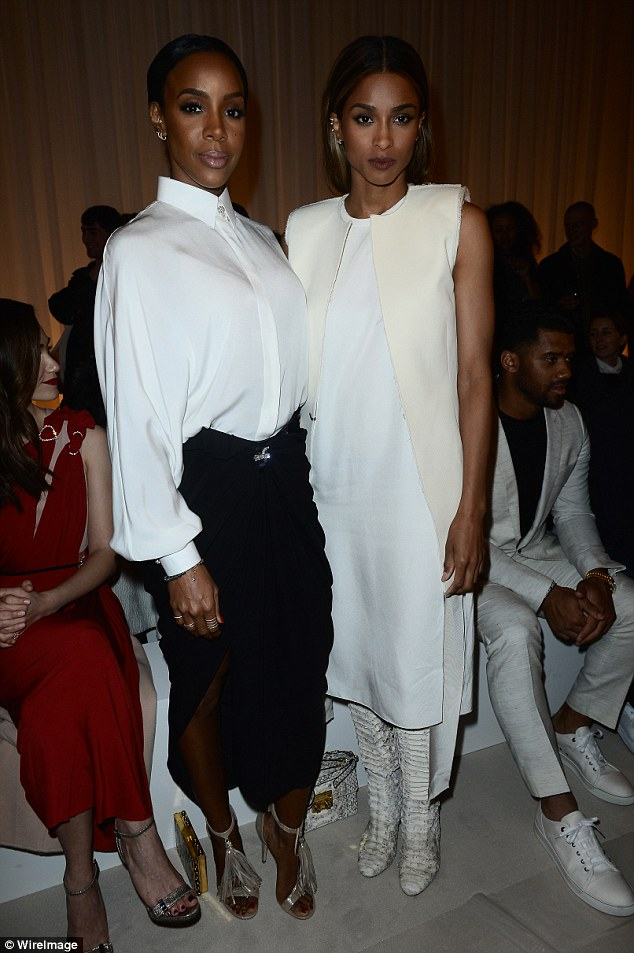 Style queens! Kelly Rowland and Ciara looked amazing on Thursday as they attended Lanvin's PFW show