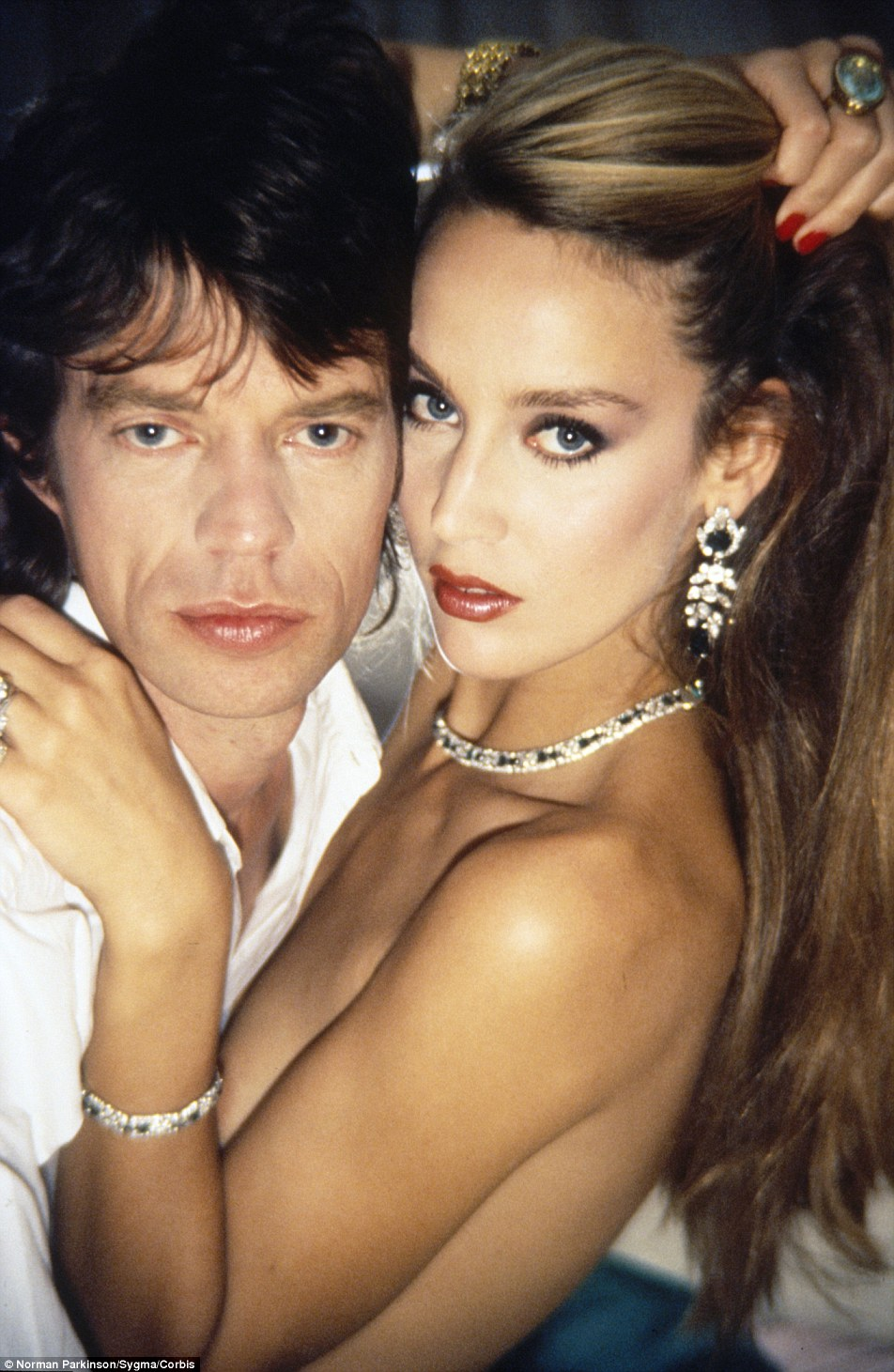 Miss Hall is known for her relationship with Mick Jagger, who she was with for more than 20 years. However, she had a star-studded relationship history long before meeting him