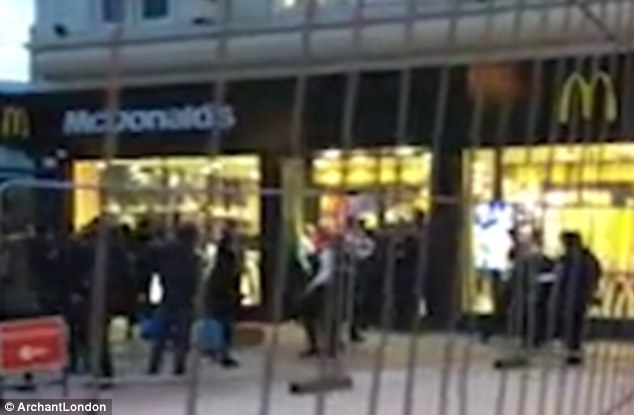 Violence: A mass brawl erupted outside McDonald's in Barking, involving teenagers armed with knives