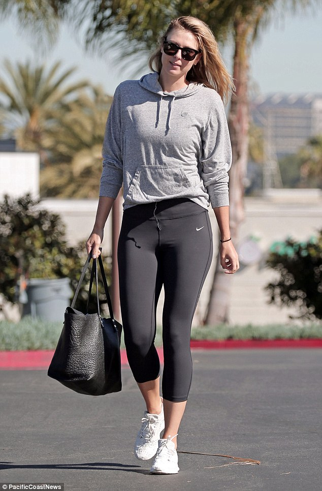 Maria Sharapova was spotted hitting the gym in Los Angeles, just a day after admitting she had failed a drug test and would be suspended as a result