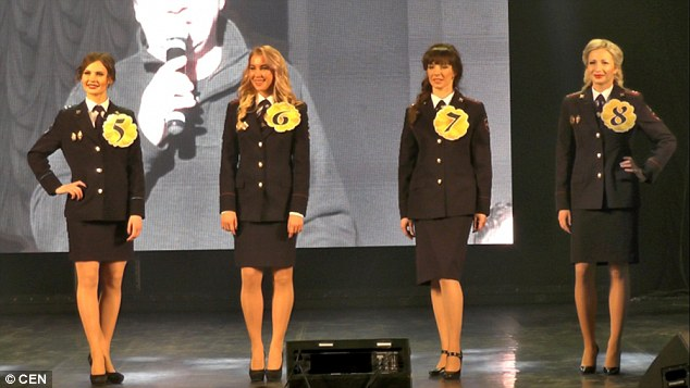 Lieutenant of internal service, Valeria Kostyna and Svetlana Skripina, who works as an inspector of criminal investigations, were runners-up