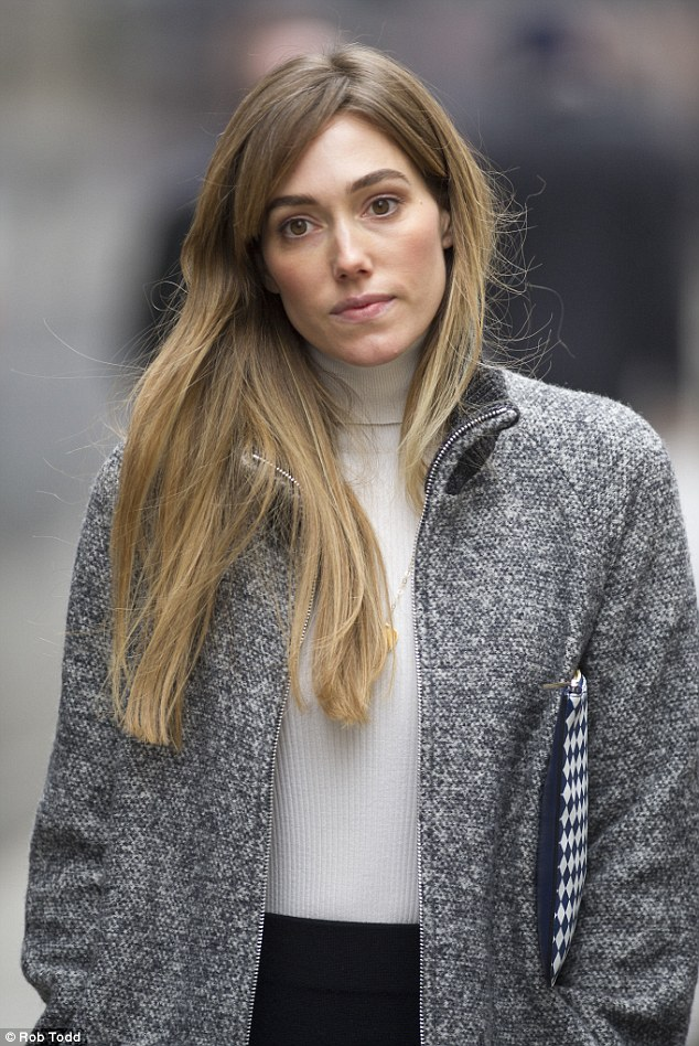 Testing times: Jacqui Ritchie was back at the Family Division of the High Court on Thursday to support her husband Guy as he continues to fight ex-wife Madonna for legal custody of their 15-year-old son Rocco