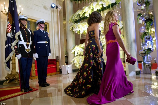 Spring has sprung! Both Michelle and Sophie opted for spring-themed gowns with floral patterns by Canadian designers