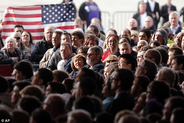 Where's Trump? Supporters wait for the much anticipated appearance of the republican frontrunner, who eventually showed up nearly an hour late