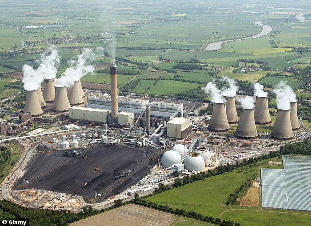 Complaint: The supplier to the Drax plant in North Yorkshire, has been accused of using a loophole in EU and UK law to falsely claim to American investors that its wood-pellet fuel emits far less carbon dioxide than coal