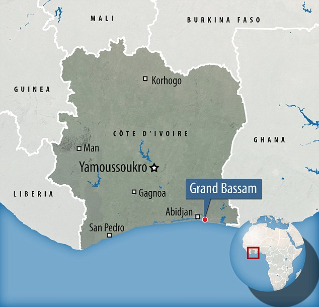 Grand Bassam was once the colonial capital of Ivory Coast and remains a popular site for ex-pats relaxing from city life in Abidjan