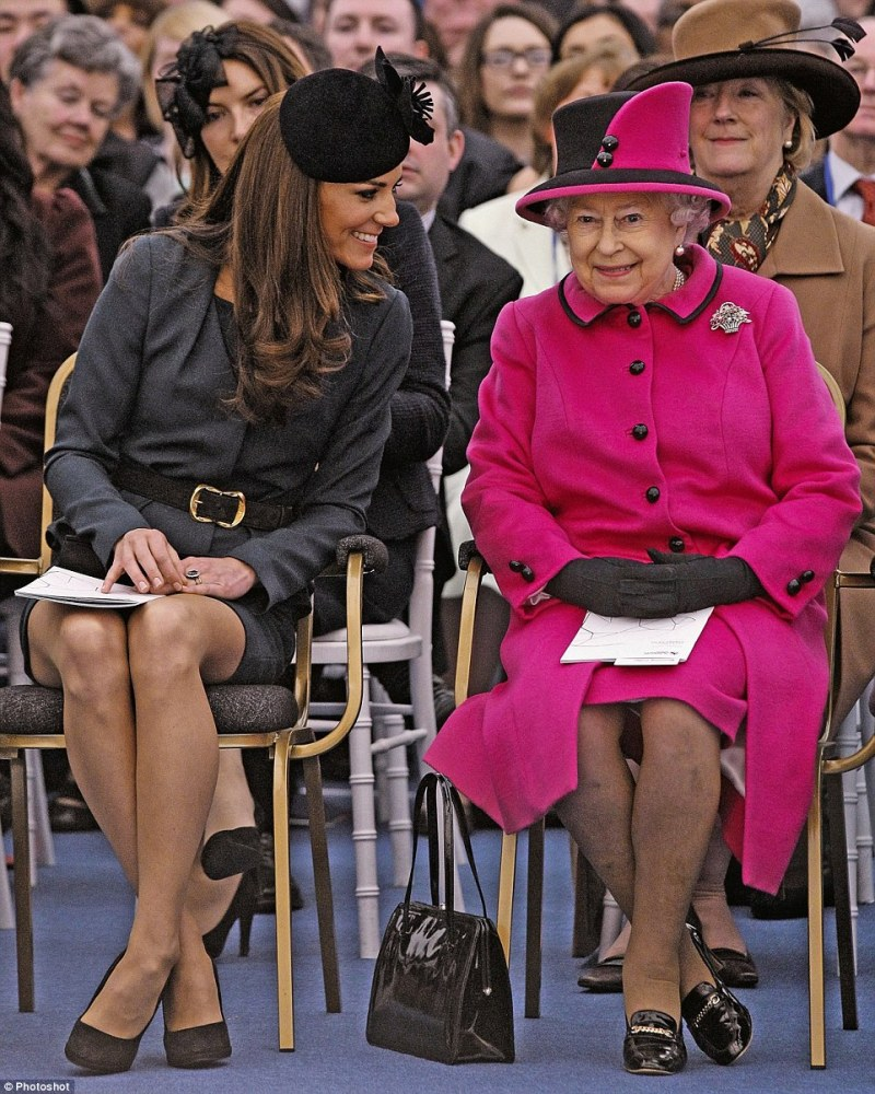 The Duchess says that the Queen gave her gentle guidance towards being in the public eye after she married William