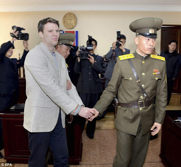Warmbier Looked Disoriented And Exhausted Has He Was Handcuffed And Led Out Of The Court By