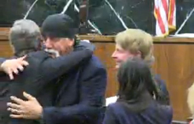 Good news: Hulk Hogan won his lawsuit against Gawker on Friday, breaking down in tears after the jury read their verdict (above hugging his lawyer)