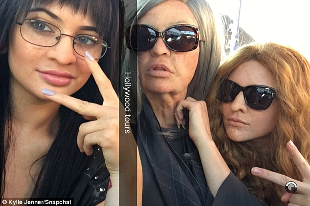 Old lady gang! Kylie, Khloe and Kendall transformed for a Keeping Up With The Kardashians prank on Friday