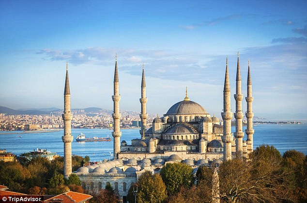 Istanbul in Turkey was named as the second best destination in the world for 2016