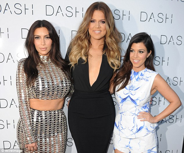 Beauty line: Kim, Khloe and Kourtney Kardashian, shown in March 2014 in Florida, were sued on Monday by an investment firm over their ill-fated Kardashian Beauty beauty line
