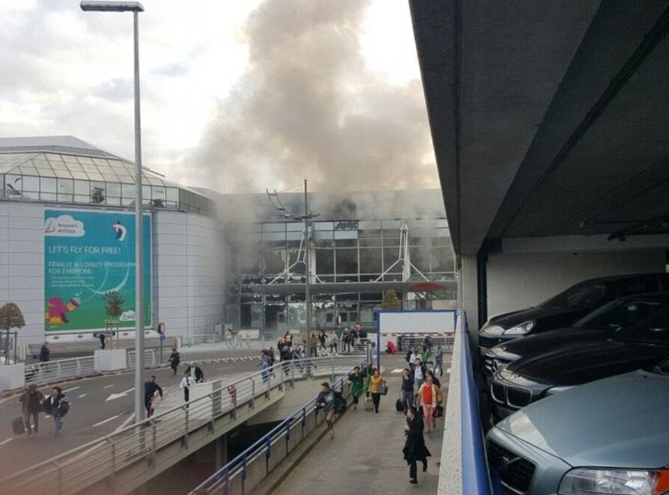 Two explosions have been heard at Brussels Airport