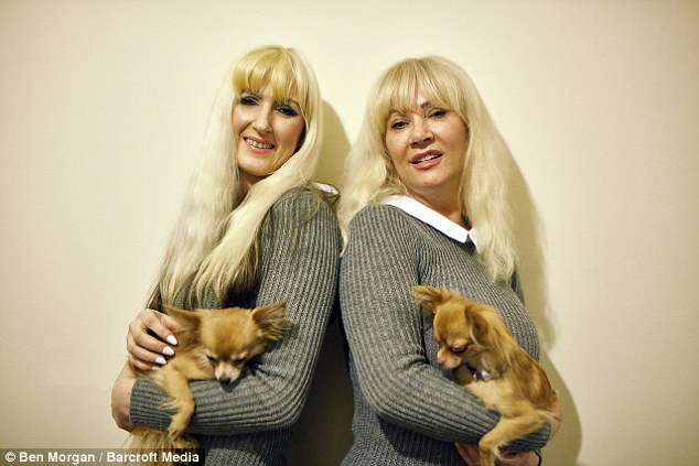Jane, left, said she initially stopped going out in public with her mum as they attracted so much unwanted attention. She says she has since come to terms with Janet's transformation, despite being firmly anti-surgery