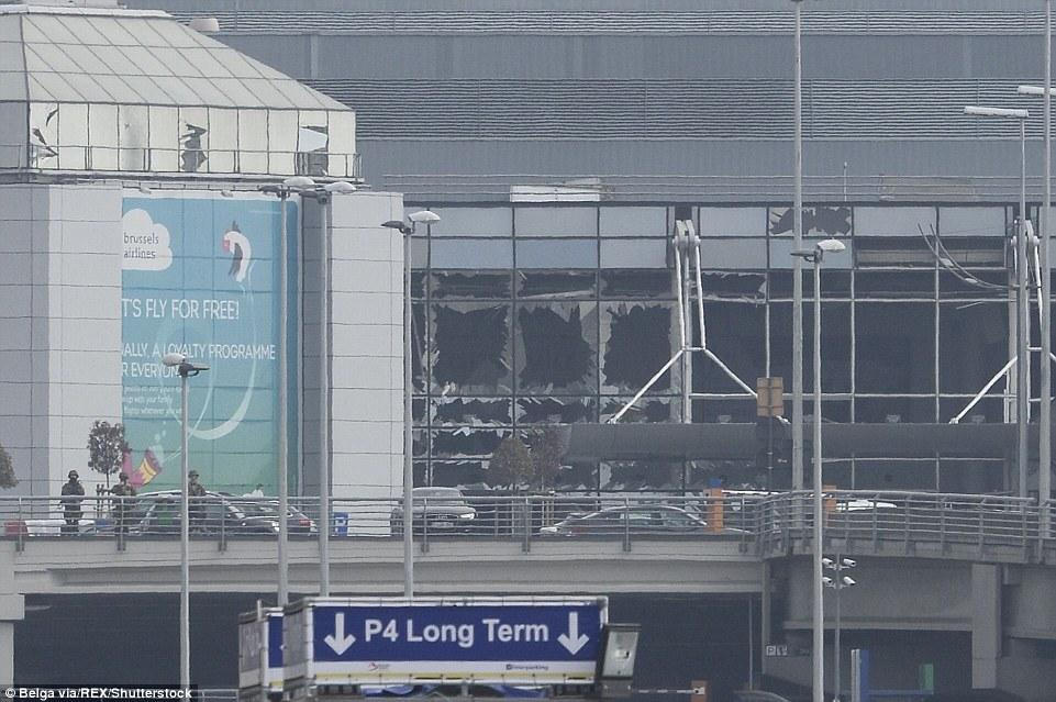 Mandatory Credit: Photo by Philippe Francois/Belga via/REX/Shutterstock (5617781al) Explosions at Brussels Airport in Zaventem Explosions in Brussels, Belgium - 22 Mar 2016