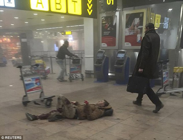 Two twin explosions tore through the Brussels Airport on Tuesday killing 14. At a nearby metro station another blast killed 20 people. Nine Americans have been confirmed injured, but many are still unidentified