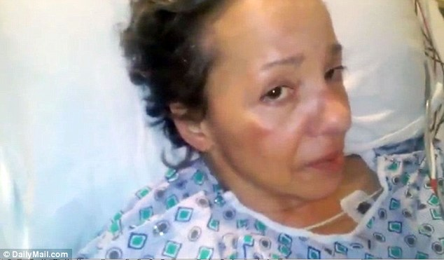 Alison, here during her most recent hospital stay, is in dire need of financial support as she battles back to health following a devastating home invasion attack last April that left her brain damaged and seriously ill