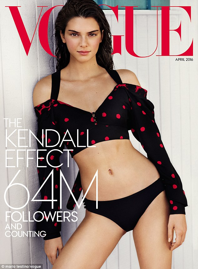 Cover girl:Kendall Jenner has landed herself on the cover of Vogue for a specialLos Angeles and in New York subscribers' edition