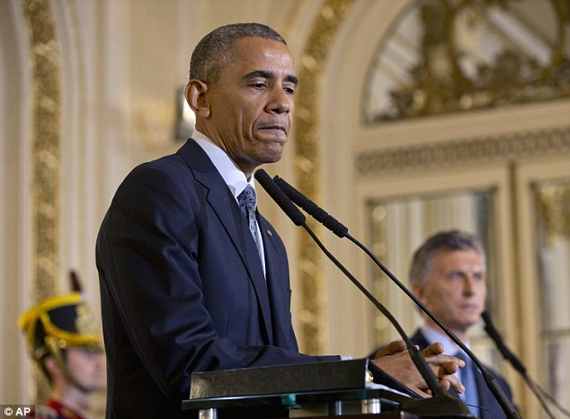 Obama spent less than a minute addressing the bombings at the top of his remarks yesterday and spent much of a press conference today in Argentina responding to Republicans' criticisms as a result