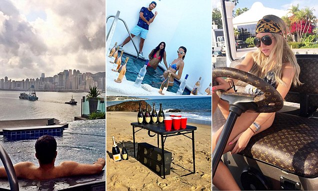 The Rich Kids Of Instagram Hit Miami And Hong Kong For Spring Break Daily Mail Online