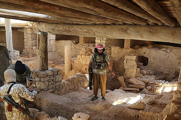 ISIS released photographs of their terrorists inside the ancient ruins soon after they took control last year