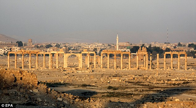 Back in the day: The historical city of Palmyra, in central Syria, is seen on 2010, before it was destroyed