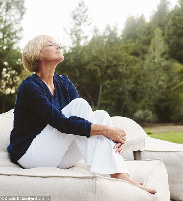 And breathe: Dr Marilyn recommends taking time out of your day to relax, performing a number of manoeuvres which will limit stress such as relaxing your muscles and taking long, deep breaths