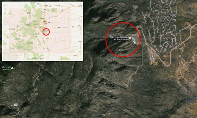 Cheyenne Mountain is 9,500 feet tall and was once a place where natives traveled for spiritual guidance. Some 2,000 feet below the surface of the Cheyenne Mountains lies American's most secure intelligence and data center, which is located in Colorado Springs, Colorado