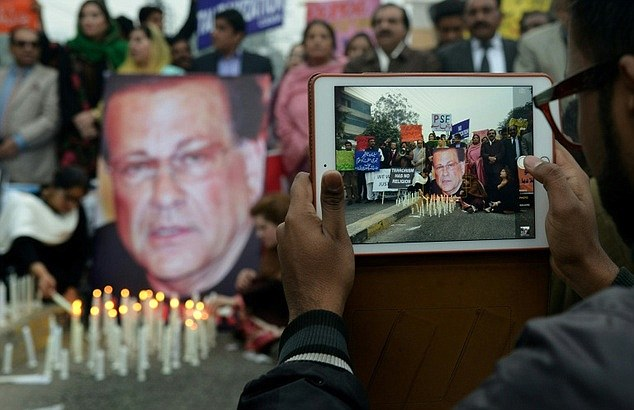 But civil society activists lit candles on the anniversary of the death Governor Taseer to show their support