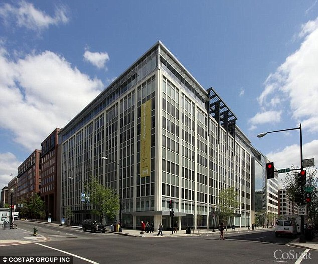 Special relationship: The Global Center For Development was given £5.9million. The US-based think-tank has a £12million HQ (pictured)