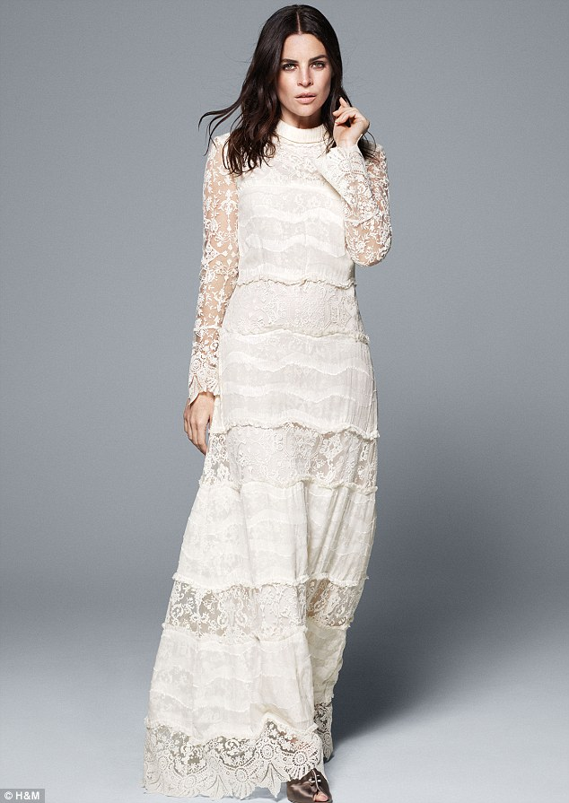The looks are part of its ethical Conscious Collection, and include a Seventies-style piece with lace sleeves