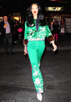 Image result for Rihanna In green