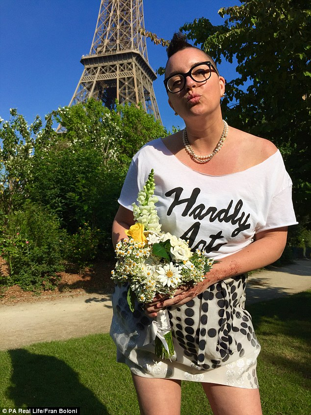 Beautiful Existence, 42, who works in social media and marketing and is from Seattle, went to Paris to marry herself in a romantic ceremony beside the Eiffel Tower