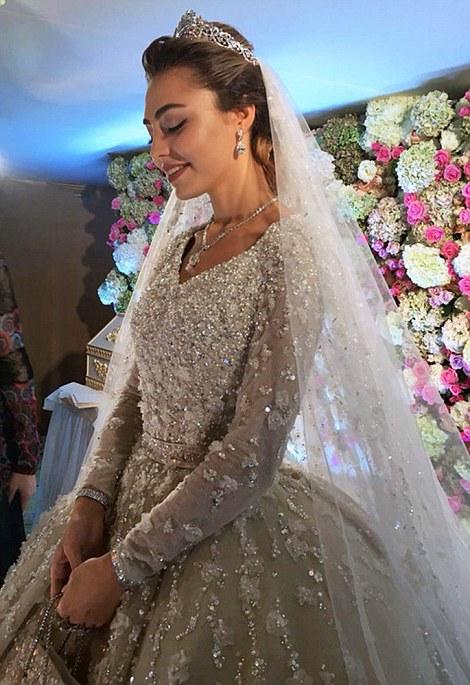 Flawless: According to Russian Tatler, the bride her make-up done by Irina Mitroshkina