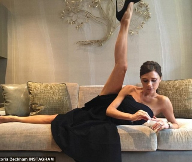 That Is One Heck Of A Leggy Display Victoria Beckham Stunned As She Lifted Her