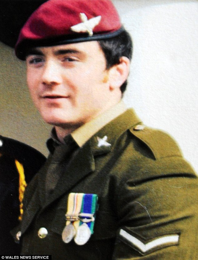 A young boy developed post-traumatic stress disorder after finding out his father Tommy Brown, shown, had died fighting the Taliban on television