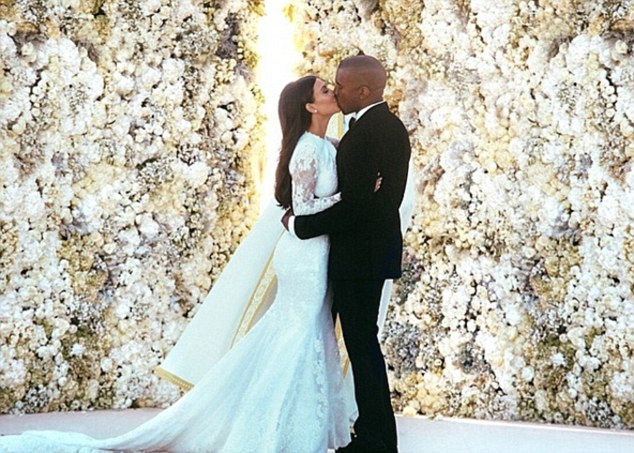 A big celebrity name as a new love interest for Kim: Kanye West and Kim Kardashian on their wedding day