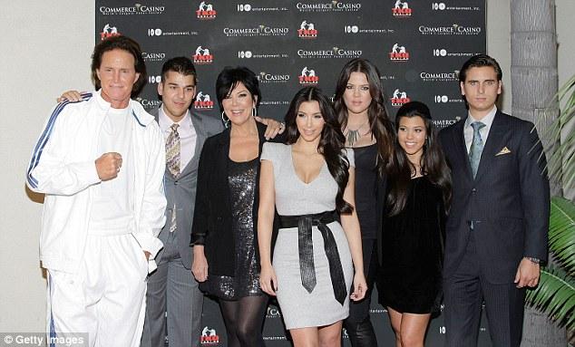 Bruce Jenner, Robert Kardashian, Kris Jenner, Kim, Khloe, Kourtney Kardashian and Scott Disick in 2009