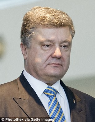 Ukraine's president Petro Poroshenko was listed