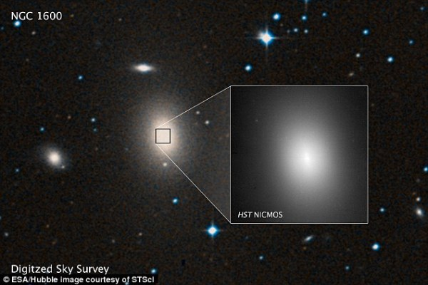 One of the largest supermassive black holes ever seen is ...