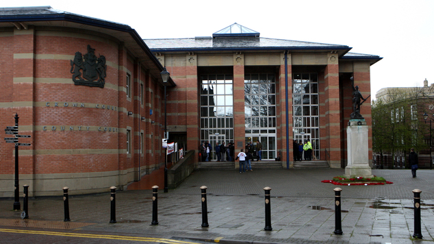 All three denied two counts of conspiring to pervert the course of justice when they appeared at Stafford Crown Court (pictured)