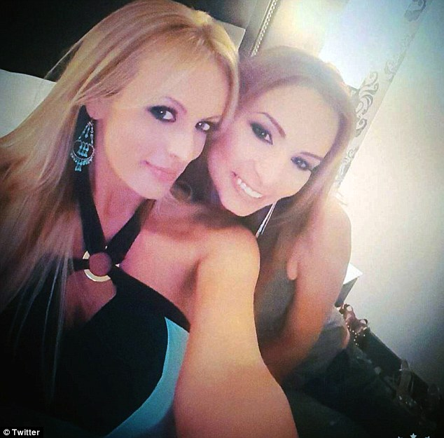 Friends: Stormy Daniels (left) has told Daily Mail Online she does not believe her friend Amber Rayne (right) would have deliberately overdosed