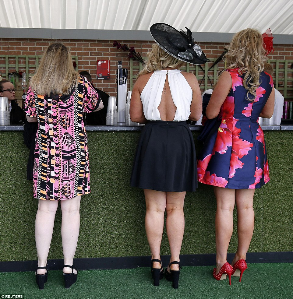 Luckily for partygoers there didn't seem to be long queues at the venue's many bars