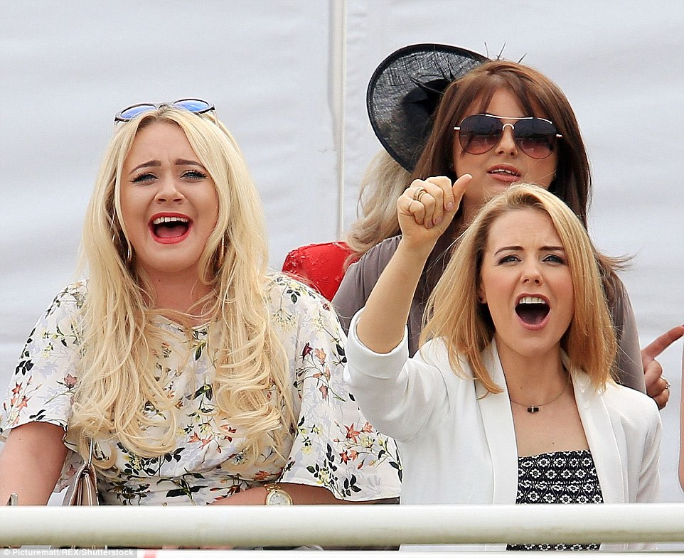 Stephanie seemed particularly animated as she enjoyed races with co-starKirsty Leigh Porter