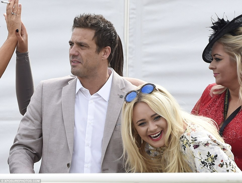 Kirsty Leigh Porter was seen doubled over with laughter as she enjoyed being a spectator