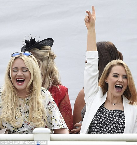 It appears Stephanie may have backed a winner if her triumphant pose was anything to go by