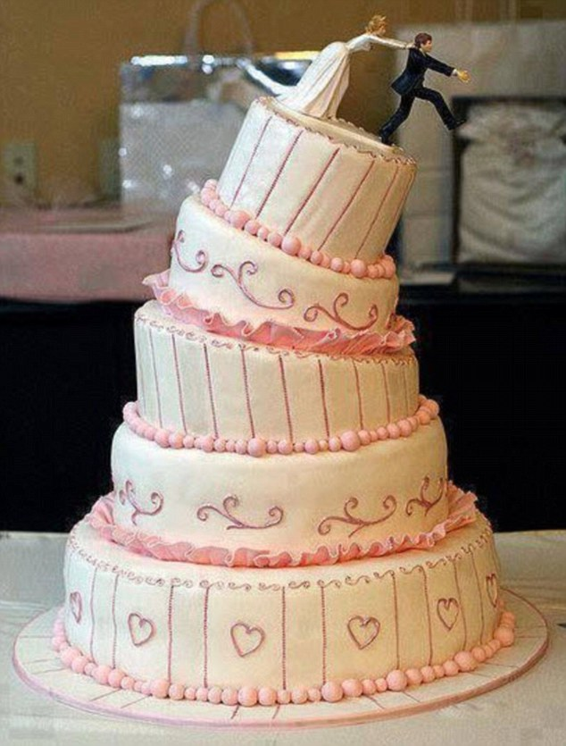 Are these the worst wedding cakes EVER    Daily Mail Online Having the cake collapse is a great fear of many brides  and sadly this five