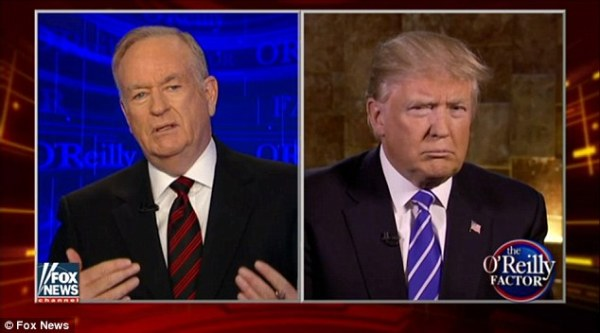 Bill O'Reilly asks Donald Trump about 'ill-educated' black ...