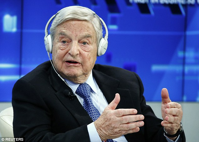 George Soros, 85, claimed Europe must spend £23billion and accept 500,000 migrants a year to avoid the EU being ripped apart by the refugee crisis